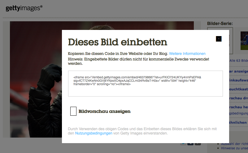 Screenshot: gettyimages.de