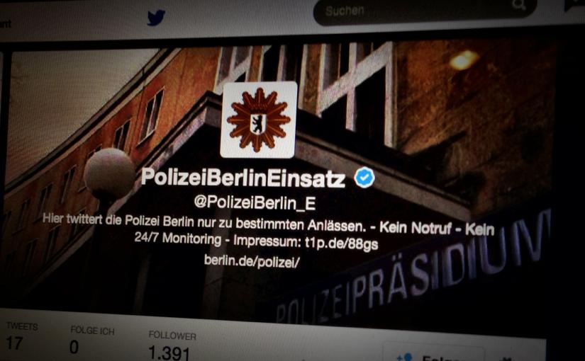 Einsatz-Account der Berliner Polizei